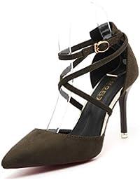 Scarpe Verde Scarpe e it Amazon Donna borse Tacchi qX1UnW