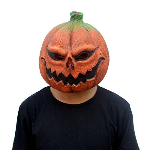 euheit-Halloween-Kostüm-Party-Latex-verrückte Gemüse-Kopfschablone Masken Kürbis (Große Kürbis-halloween-kostüm)