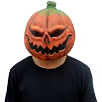 CreepyParty Deluxe Novelty Halloween Costume Party Latex Pumpkin Head Mask