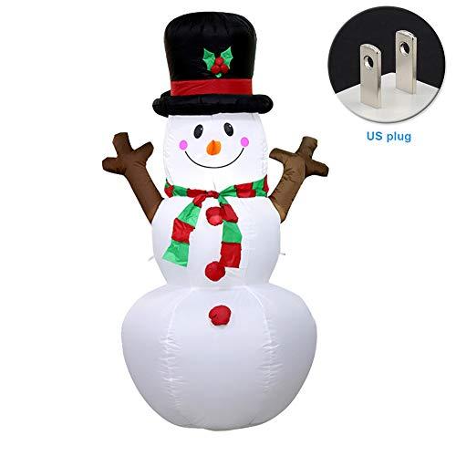 Centeraly Artículos de Fiesta Decoración navideña Luz LED Juguete al Aire Libre Muñeco de Nieve Inflable