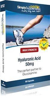 Acide Hyaluronique 50mg | Pour les articulations et les muscles| 60 Gélules | Simply Supplements