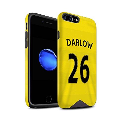 Officiel Newcastle United FC Coque / Matte Robuste Antichoc Etui pour Apple iPhone 7 Plus / Tioté Design / NUFC Maillot Domicile 15/16 Collection Darlow