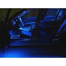 4x LED azul iluminación interior, Juego lámpara Tuning LED Xenon