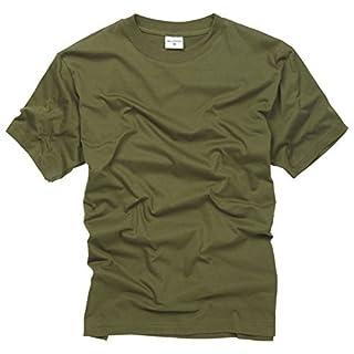 100% Cotton Basic Military Style T-shirt - Olive (M)