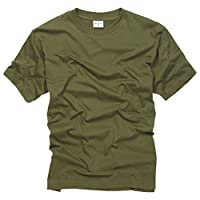 100% Cotton Basic Military Style T-shirt - Olive 6