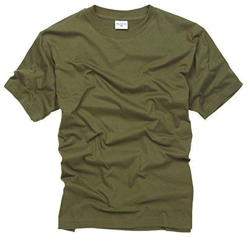 100% Cotton Basic Military Style T-shirt - Olive 1