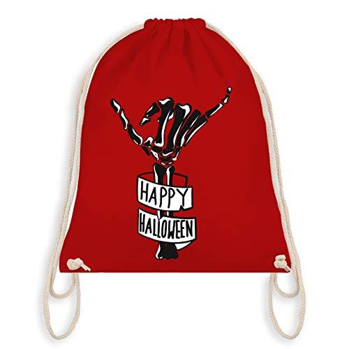 Halloween - Happy Halloween Skelett Hand - Unisize - Rot - WM110 - Turnbeutel & Gym Bag