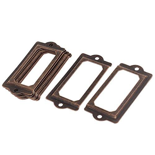 sourcingmap® 70 mm x 33 mm-Schrank Regal Schublade Namensschild Etikettenhalter Rahmen, 8 Stück de