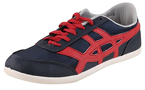 Globalite Men's Casual shoe Wings ACE Navy/Red GSC0898 UK/IN 7  available at amazon for Rs.249