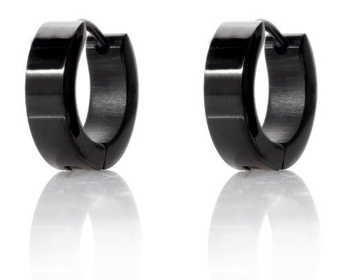 In acciaio inox Karisma Black Line cerchi - orecchini larghezza 6 mm - CREOBS,6,16 - diametro 16 mm