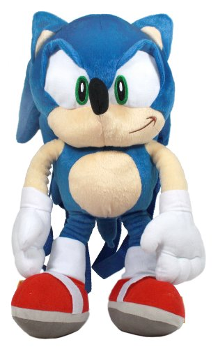"""Accessory Innovations Sonic The Hedgehog Plush Backpack, 16"""""""