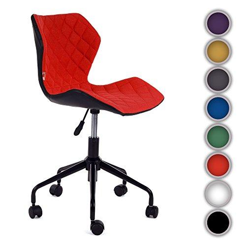 My sit sedia da ufficio poltrona girevole sgabello direzionale presitenziale regolabile in altezza pelle sintetica nuovo ino in rosso/nero
