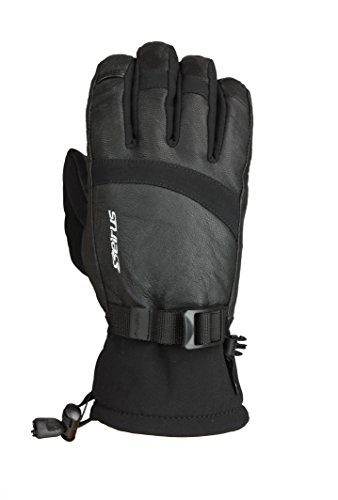 Seirus Innovation 1401 Herren Softshell Signal Wasserdicht Polartec kaltem Wetter Winter Glove - Relaxed Fit, Herren, 1401, Schwarz, XL - Seirus Softshell