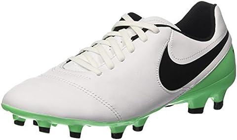 Nike Herren Tiempo Genio II Leather FG Fußballschuhe, Weiß (White/Black-Electro Green), 44 EU