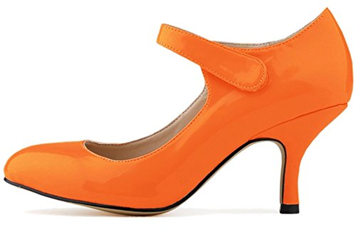 Fangsto  Mary Jane, Claquettes fille femme Orange