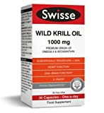 Swisse Wild Krill Oil Dietary Supplement 100MG 30 CAPSULES from swisse