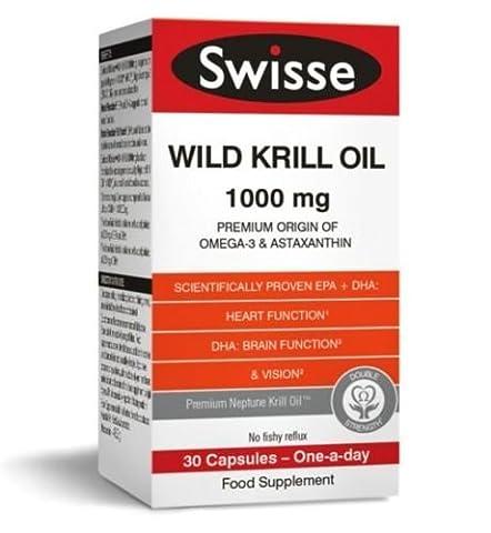Swisse Wild Krill Oil Dietary Supplement 100MG 30 CAPSULES