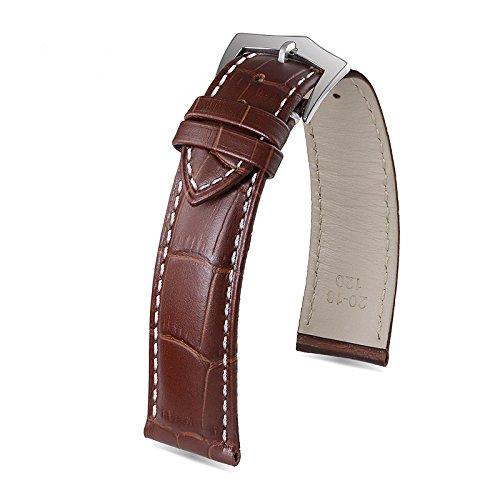 23-millimetri-di-fascia-alta-marrone-orologi-da-uomo-catenaccio-perno-cinghia-di-cuoio-bianca-cucitu