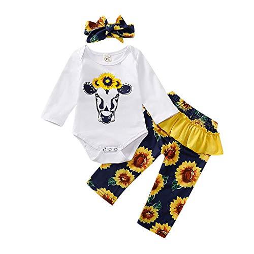 WFRAU Baby Strampler Mädchen Sonnenblume Drucken Strampler