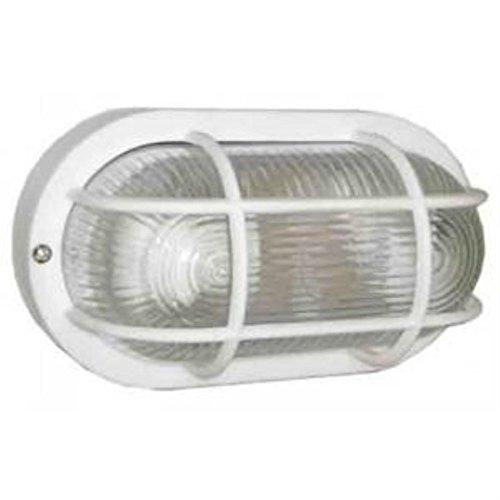 Aplique ovalado aluminio rejilla BLANCO E27 GSC 0700782