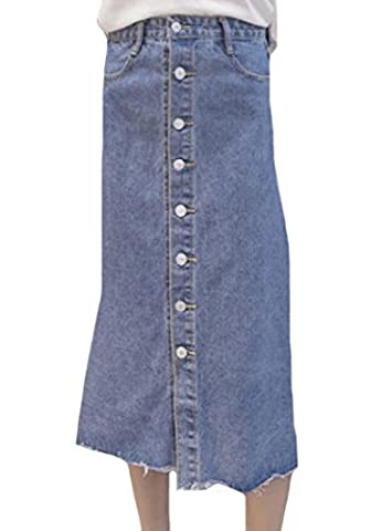 Tootlessly Women's Casual Slim Denim Fashion Summer Long Skirt Pattern2 XL