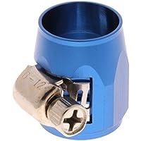 Baoblaze Clip de Soporte para de Línea de Combustible Agua Aceite Aire AN6 de Automoviles - Azul