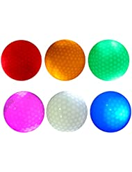 MagiDeal 6 Piezas Bola de Golf Resplandor Luz Oscura Iluminar de Tamaño Oficial de Torneo