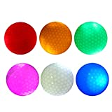 #3: Segolike 6 Pieces Glow In Dark LED Light Up Golf Ball Official Size Tournament Ball