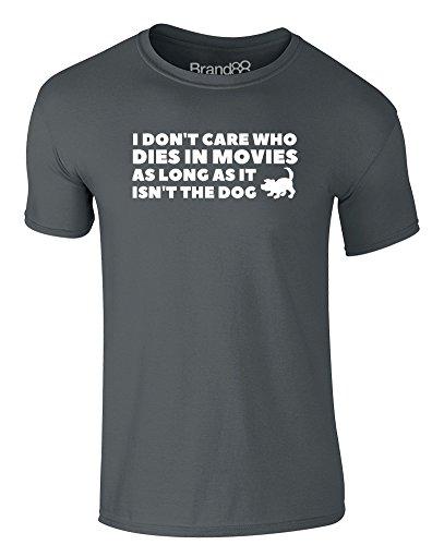Brand88 - Dogs in Movies, Erwachsene Gedrucktes T-Shirt Dunkelgrau/Weiß