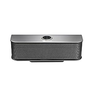 TaoTronics Tragbar Bluetooth 4.0 Lautsprecher Stereo Speaker Boombox mit 20W Treiber & 6 Stunden Wiedergabedauer (Schwarz, Bassverstärker mit HiFi-Klang, Aluminium legierter Lautsprecher )