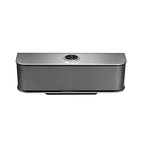 Bluetooth Lautsprecher TaoTronics 4.0 Tragbar Stereo Speaker Boombox mit 20W Treiber & 6 Stunden Wiedergabedauer (Schwarz, Bassverstärker mit HiFi-Klang, Aluminium legierter Lautsprecher)