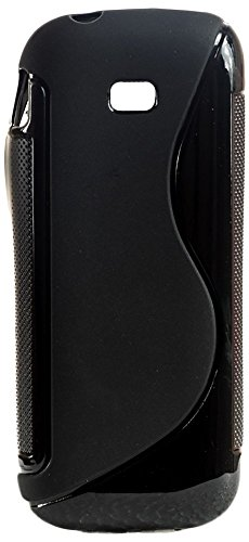 Samsung Guru Music 2 Back Cover , S-Line Black Soft Silicon Back Cover Case  available at amazon for Rs.179
