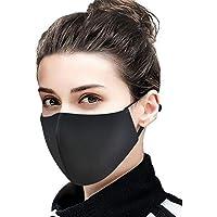 Auifor Transpirable al aire libre, a prueba de polvo y antivaho, reutilizable y suave para adaptarse al puente nasal, 5 piezas por paquete(Negro,5PC)