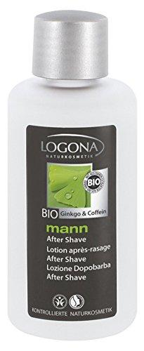 LOGONA Naturkosmetik mann After Shave, Beruhigend & vitalisierend, Vegan, Bio-Extrakte Koffein & Ginkgo, Für Männer, 100ml