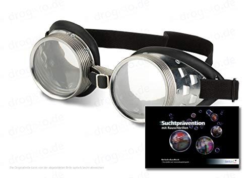 ORIGINAL Rauschbrillen - die Drogenbrille vermittelt Bilder, die Wahrnehmung, Gefühlserleben und körperliche Reaktion eines starken Drogenrausches nahe kommen inkl. 123 - seitigem Methodenhandbuch zur Suchtprävention mit Rauschbrillen, mit praktischen Anwendungsbeispielen