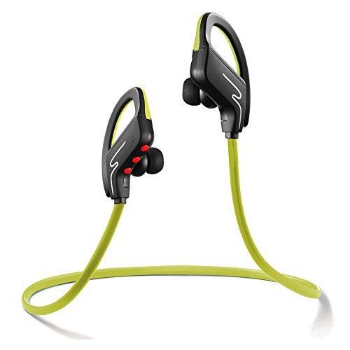BLSAK Bluetooth Headphones,Wireless Sport HiFi Stereo In-Ear Headset Hands Free Calls Sweatproof Running Earphones Neckband Music Earbuds Noise Cancelling Ear Hook for iPhone 7/6 Samsung (Grün) Lg Hands Free-headset