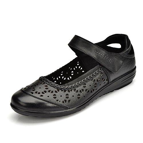 Chaussures de maman/Chaussures Asakuchi Velcro/ creusent chaussures pour femmes de grande taille C
