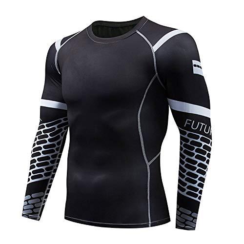 Mike Wodehous Mens Compression Hemd, schnelltrocknende Lange Hülse Sport Fitness T-Shirt Compression Shirts