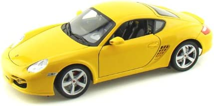 Welly Porsche Cayman S Coupe Jaune 2007 1/18 Welly Voiture Modèle | Service Supremacy