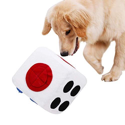 Bwiv Schnüffelteppich Hundespielzeug Waschebar Schadstofffrei Hunde Intelligenzspielzeug Riechen Trainieren Spielzeug SchnüffelwürfelSpielzeug für Hunde Werfen Fördert Natürliche Nahrungssuche