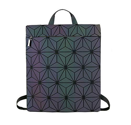 abc7d0f460cd L La Sra. Linger Trends Luminous Color Laser Bag Estudiante de Moda  Geometría Mochila Pareja Mochila