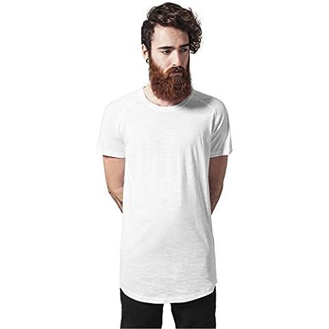 Urban Classics TB968 Long Shaped Slub Raglan Tee T-Shirt uomo WHITE L