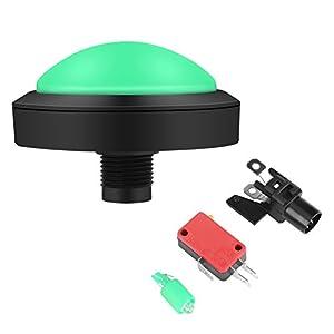 100mm Massive Gewölbte LED Beleuchtete Druckknöpfe für Säulengang Münzen Maschinen Betriebene Spiele(Green)