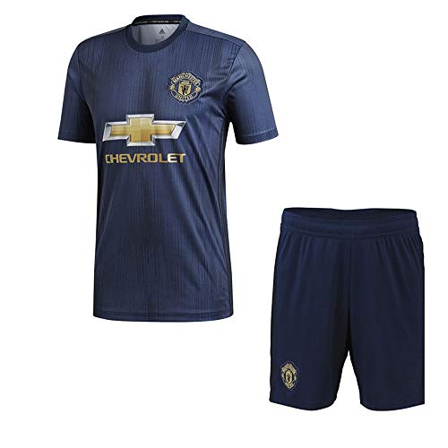 Personalisierte Jersey Heim & Auswärts 2018-2019 Custom Soccer Shirt Kits für Kinder Erwachsene mehrere Clubs mit Namen und Nummer - Auswärts Manchester United