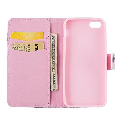iPhone 5S Coque, cowx Étui de protection Etui en cuir pour iPhone 5S 5Étui en cuir PU Case Coque, iPhone 5, iPhone 5S 5Case, housse support portefeuille pour iPhone 5S 5poches Bols Foto10