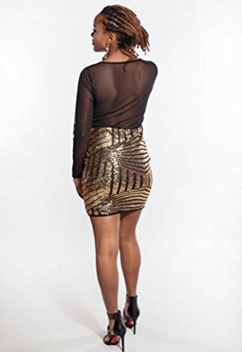 CHENGYANG Femme Robe Crayon de Style Cocktail Manche Longue Bodycon pour Soirées Clubwear Fête Noir