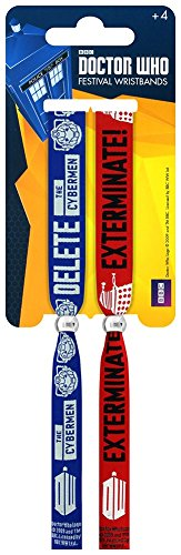 Doctor Who Dalek and Cyberman Double Festival Wristband Set