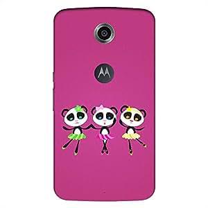 Mobo Monkey Designer Printed Back Case Cover for Motorola Nexus 6 :: Motorola Nexus X :: Motorola Moto X Pro :: Google Nexus 6 (Panda :: Cute :: Girl :: Girlish :: Her :: Woman)