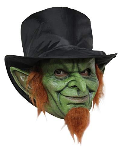 Horror-Shop Leprechaun Kobold Maske mit -