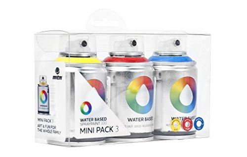 MTN sprühdosen Juego Water based Spray Paint Mini Pack 3x 100ml Varios...